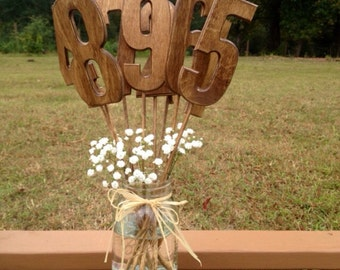 Rustic Wedding Table Numbers - Shabby Chic Wedding - Wooden Table Numbers - Rustic Wedding - Wooden Table Numbers - Wood Numbers