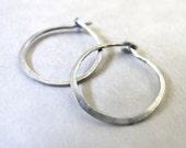 Silver Hoops - small hoop...