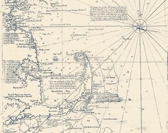 Sea of New England - Cape Cod Map 1734