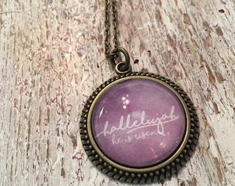 Hallelujah pendant necklace