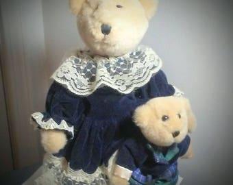 Collectible Victorian Bears - Sweet Lolita - Lolita Teddy Bears - Mama Bear and Little Bear - Room Decor Nursery Kawaii - Vintage Rare Bear