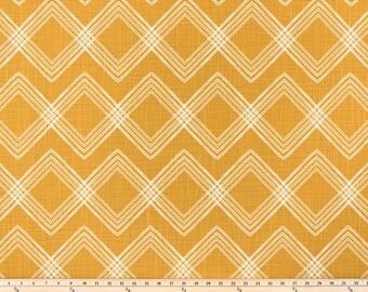 Custom curtain panels, custom drapes, Premier Colton Tuscan sun yellow and white rod pocket window curtains, cotton slub