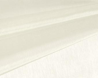 Ivory Organza Fabric by the Yard, Wedding Decoration Organza Fabric, Sheer Fabric - Style 1901