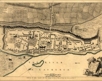 Poster, Many Sizes Available; Map Of Fortifications Of Montreal Canada 1768