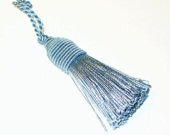 1 blue satin stitch 90mm AC368 blue tassel