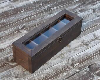 Distressed wood wooden tea box rustic tea box wood tea box tea bag box modern tea box shabby chic tea box storage vintage tea box