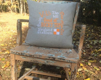 University of Tennessee throw pillow