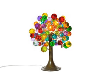 Modern Table lamp, Decorative table lamp, desk lamp with colorful bubbles lighter. bedside lamp, valentine's gift
