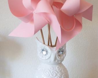 Pastel party dwcorations Adorable Pinwheels! Wedding Favors Decor Birthday Favors - 6 regular Paper Pinwheels