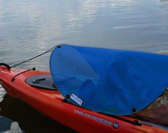 Dog paddling sun shade for kayaks, canoes and SUPs (blue)