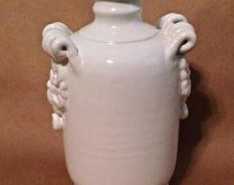 White Glazed Urn