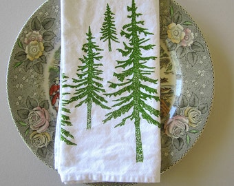 Cloth Napkins - Screen Printed Cotton Cloth Napkins - Eco Friendly Dinner Napkins - Mountains - Handmade Cotton Napkins - Table Setting