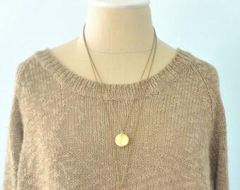 Lockets, Long Locket Necklace - Multi Strand Necklace - Brass necklace - Antique Brass Locket necklace (0103N)