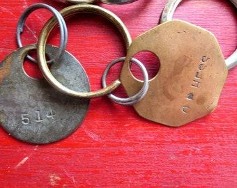 Vintage split key rings #14