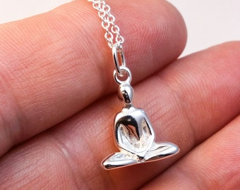 Yoga Necklace - Sterling silver Yoga charm necklace - lotus pose - meditation - yoga jewelry - namaste necklace - yoga pose necklace
