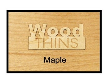 Maple Wood Thins for Engraving (5 Pack)