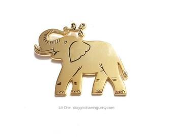 Elephant enamel pin - Wildlife series