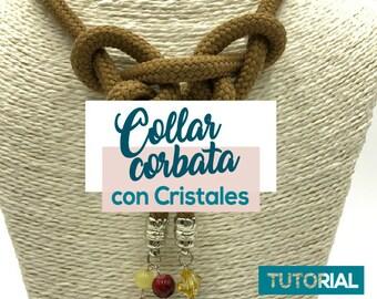 DIY Collar Corbata con Cristales Ebook PDF con Video Tutorial
