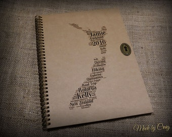 Personalised New Zealand, Travel Scrapbook, Photo Album, Journal, Diary, Kiwi, Family, Holiday, Adventure, Honeymoon, Wedding, Gift Idea