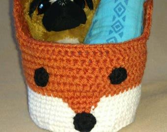 Crochet Fox Basket/Bin