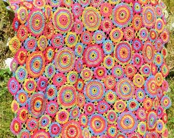 Kissing Circles Crochet Afghan/Blanket - PDF CROCHET PATTERN