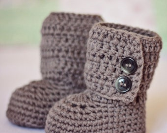 Baby Booties - Baby Ankle Boots - ready to wear (0-6 months)