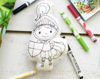 Doodle Pillow Washable Color Your Own Pillow Doodle Knight Stuffie