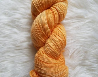 Orange Cream-Fingering Weight Singles Yarn. 100% Superwash Merino Wool