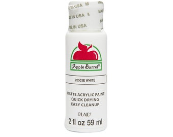 Apple Barrel Acrylic Paint - 2 oz - White