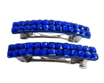 Hair Clip, Barrette, Blue French Barrettes for Fine Hair, Accessories for Short Hair
