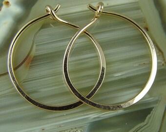 """Rose GolGold Hoops / Medium Gold Hoops / Rose Gold Filled Hoops / Little Black Dress Earrings / 1"""" Hoops / Sterling Silver Hoops"""
