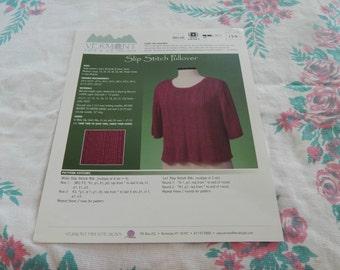Vermont Fiber Designs Slip Stitch Pullover pattern #134