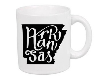 Arkansas State Mug Coffee Cup Gift Home Decor Kitchen Bar Gift for Her Him Any Color Personalized Custom Jenuine Crafts
