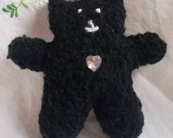 Mini black bear rhinestone Center
