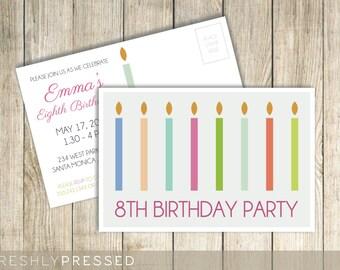 Birthday Party Invitation - Custom Postcard