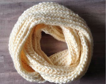 Sweet Cream Infinity Scarf (PATTERN ONLY)