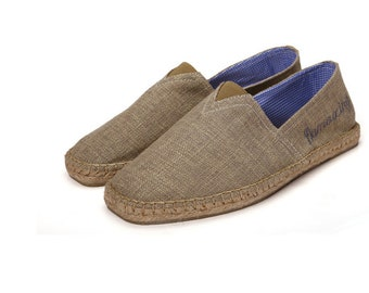 Men's pure hemp bottoms handmade cloth shoes retro contracted absorb sweat men's singles shoes