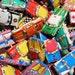2pcs TINY VINTAGE CARS Tin Litho Toys Made in Japan