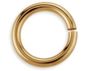 10 Pcs  7 mm 22ga 14K Gold Filled Open Jump Rings (GF22GOJR07)