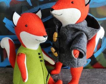 fox sewing pattern, fox pattern, fox PDF pattern, felt fox pattern, plush pdf pattern, fox plush, fox softie, softie pdf pattern,
