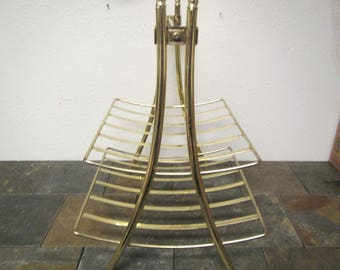 Gold Tone Magazine  Rack , metal magazine rack ,   2 Tier magazine stand,   furniture