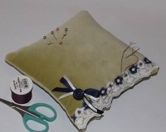 Large Velvet Pincushion, Dressmakers Pincushion