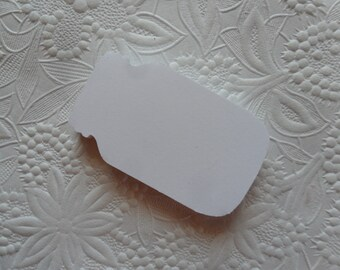 25 White Glass Jar Die Cuts or Gift Tags-Favor Tags-Hang Tags-Wedding Tags-Shower Tags