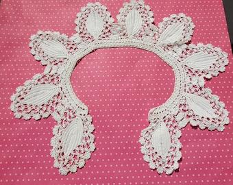 Antique Lace Vintage Lace Irish Crochet Collar