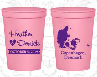 Light Pink Stadium Cups, Light Pink Cups, Light Pink Party Cups, Light Pink Wedding Cups (171)