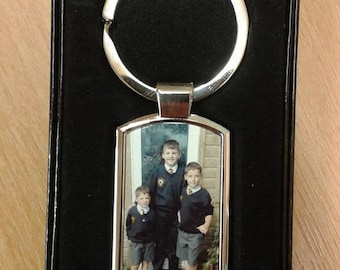 Lovely Personalised Photo Keyring with gift box family