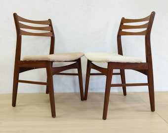 Pair of Vintage Danish Modern Dining Chairs - Free NYC Delivery!