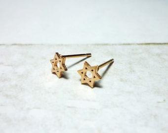 Hexagram Stud Earrings, 6 Pointed Star Earrings