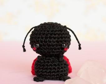Ladybug crochet miniature animals, Crochet ladybug gifts, Amigurumi lady bug, Stuffed animals plushies, Cute plush ladybug, Knitted animals