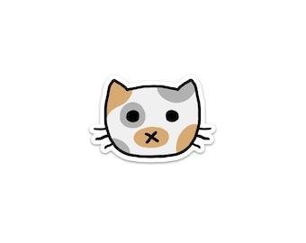 Dilute Calico Cat Sticker, Phone Sticker, Cat Laptop Sticker, Car Sticker, Bumper Sticker, Vinyl Sticker, Cute Cat, White Cat, pale